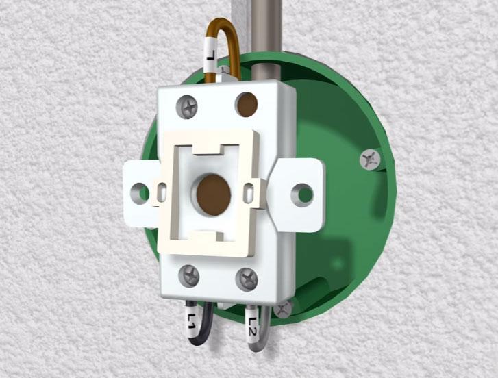 подключение проводов на клеммы проходного выключателя