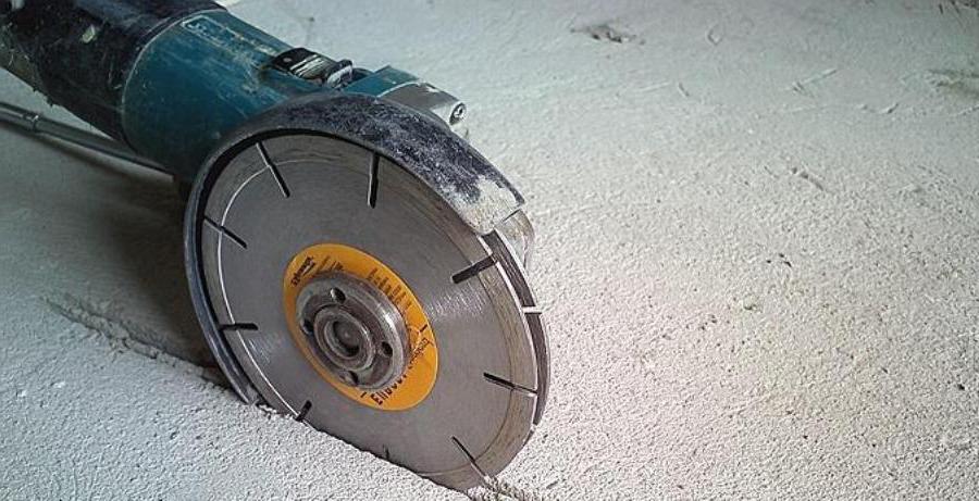 Болгарка для штробления стен по бетону