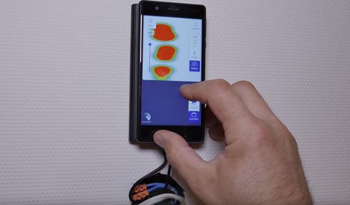 как найти проводку за штукатуркой при помощи смартфона телефона и сканера walabot