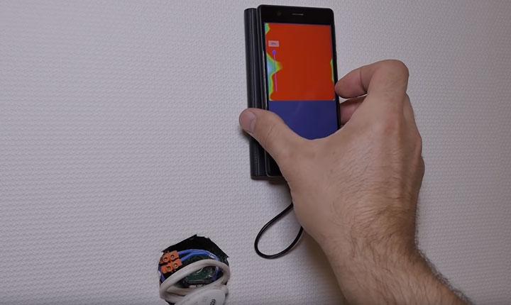 регулировка чувствительности при поиске проводки смартфоном и walabot
