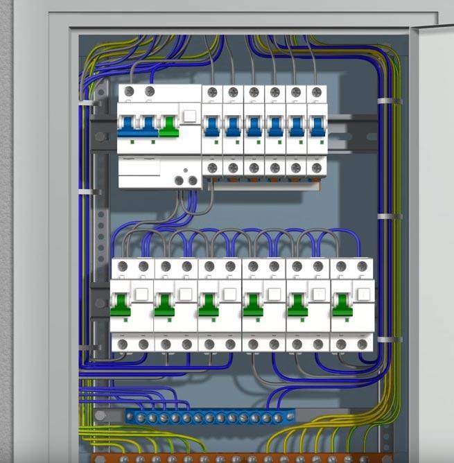 Схема электрощитка в квартире - подключение автоматов c5cd5494d5999