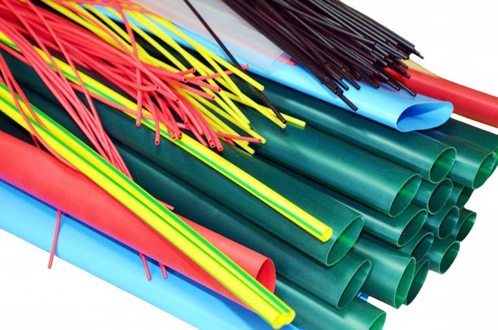 разноцветные кембрики под термоусадку для маркировки