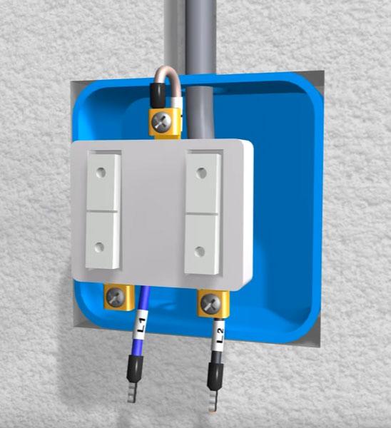 подключение общего контакта на двойном двухклавишном выключателе