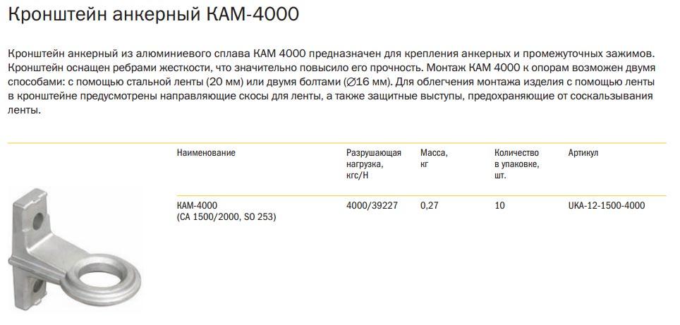анкерный кронштейн на стену IEK КАМ 4000
