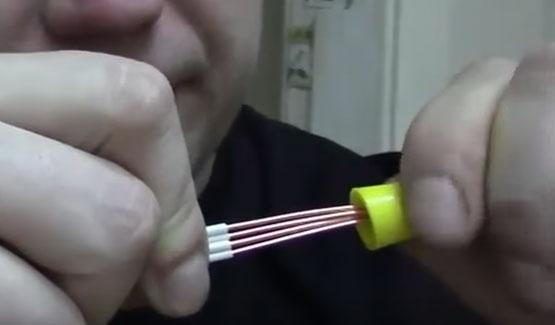 как правильно скручивать провод с колпачком СИЗ