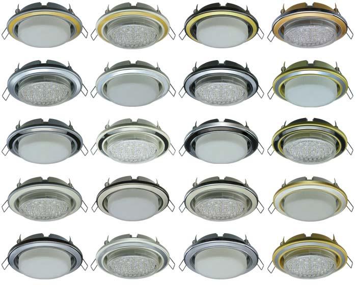 разновидности точечных светильников GX53
