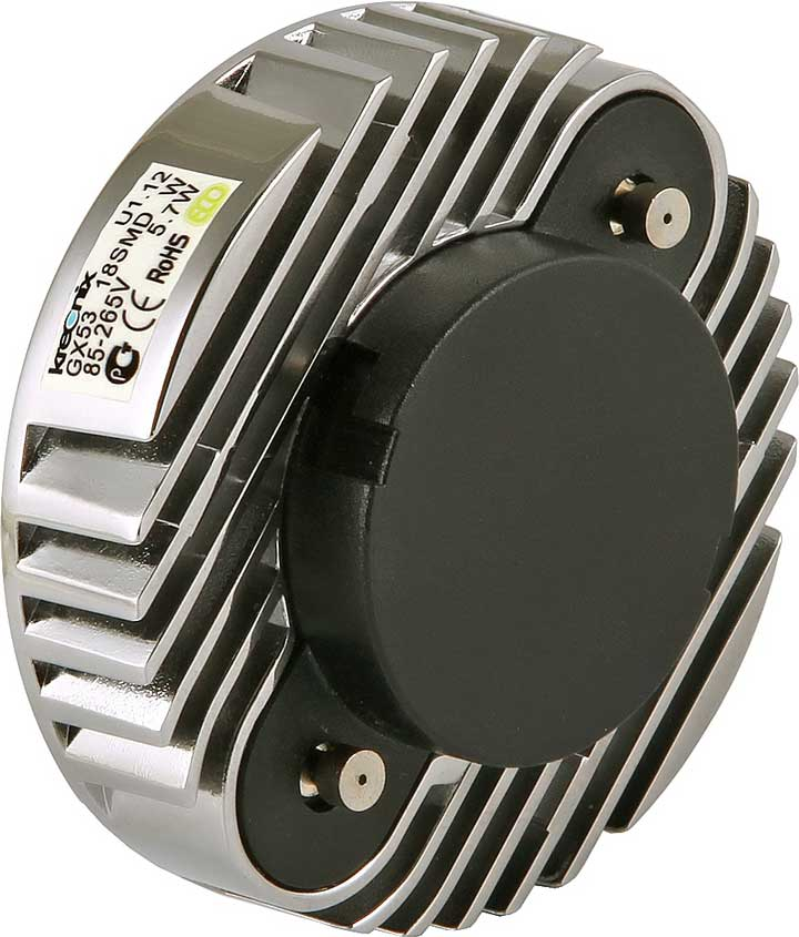 радиаторная решетка охлаждения на светодиодной лампочке