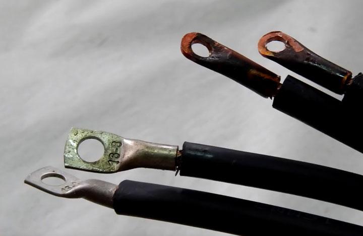 провода соединенные с наконечником пайкой