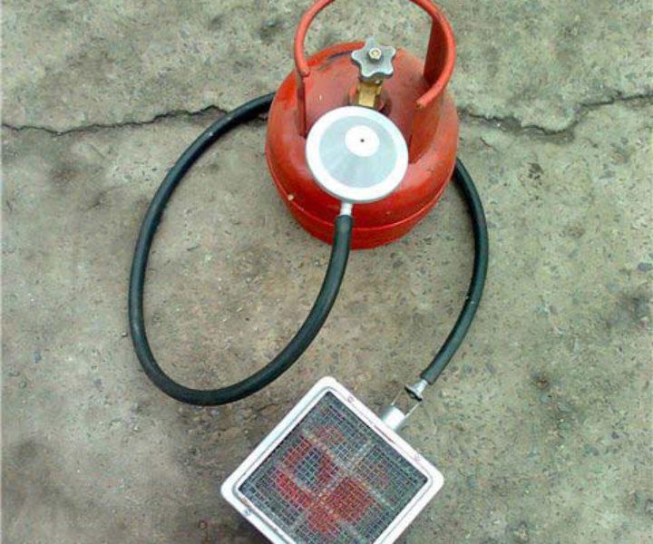 горелка с газовому баллону с инфракрасным излучением