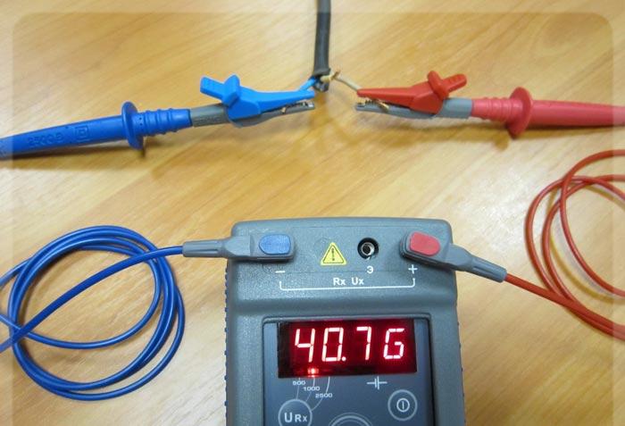 проверка изоляции кабеля перед покдлючением