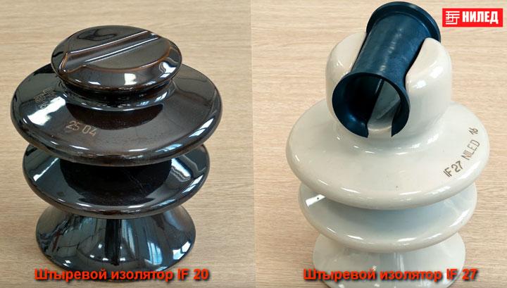 штыревые изоляторы ШФ-20 и IF27 для провода СИП