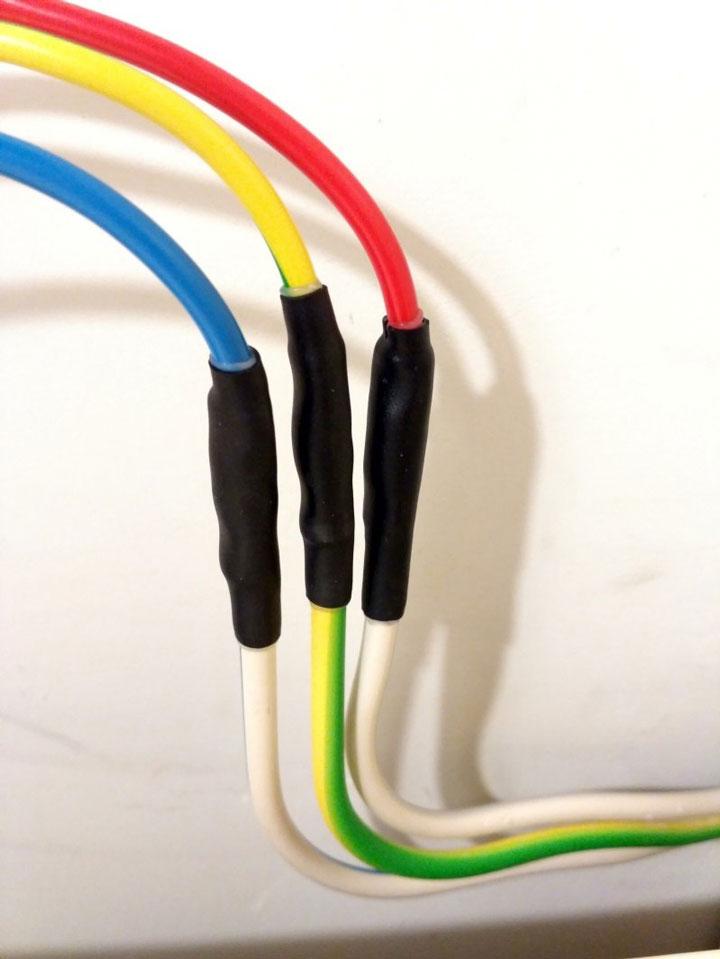 соединенные провода гильзами ГМЛ