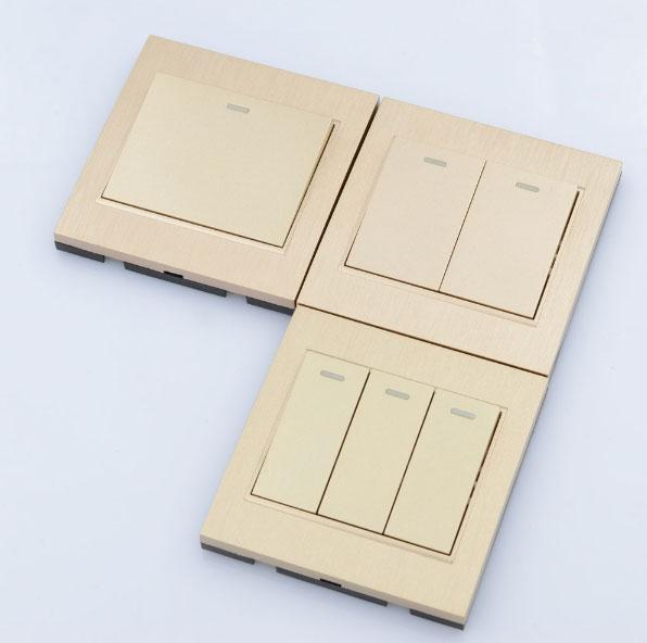 одно двух и трех клавишные универсальные выключатели света