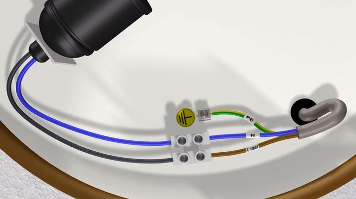 подключение заземления к корпусу светильника