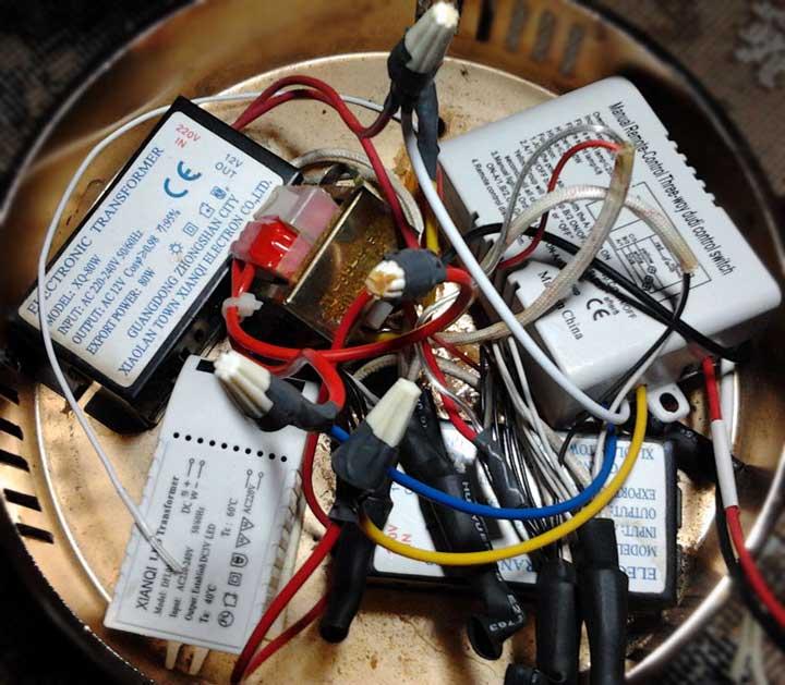 радиомодуль приемник сигнала от дистанционного выключателя в колпаке люстры
