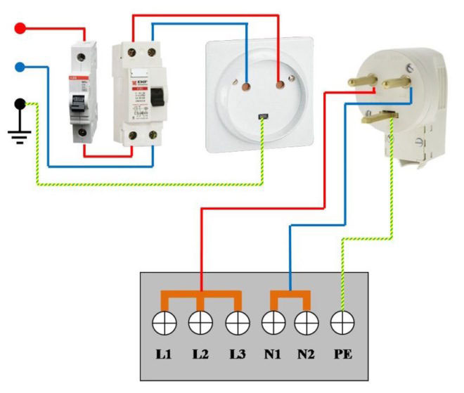 варочной панели подключения схема