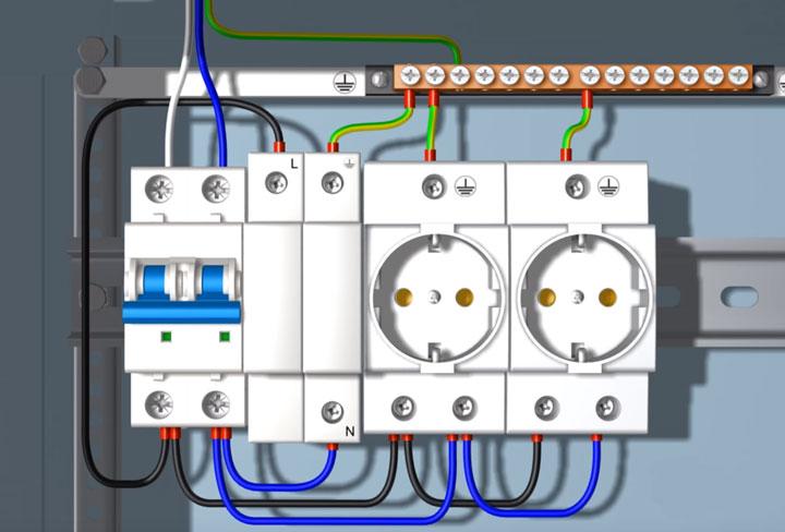 подключение модульных розеток в распредшкафу