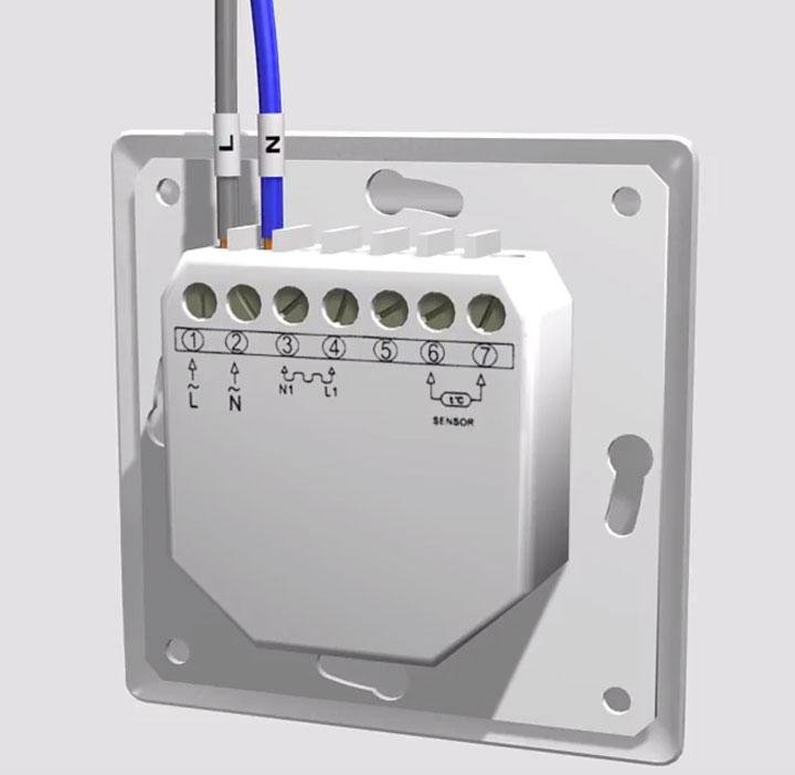 подключение питания на терморегулятор теплых полов
