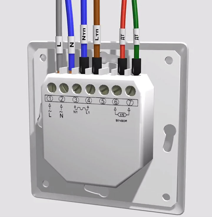 схема правильного подключения терморегулятора для теплых полов и нагревательных матов