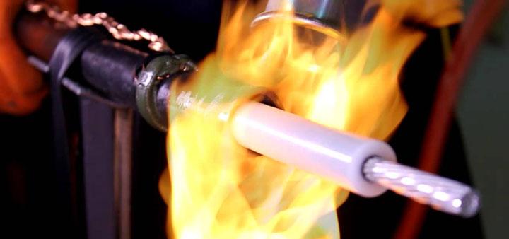 установка муфты на кабель из СПЭ сшитый полиэтилен