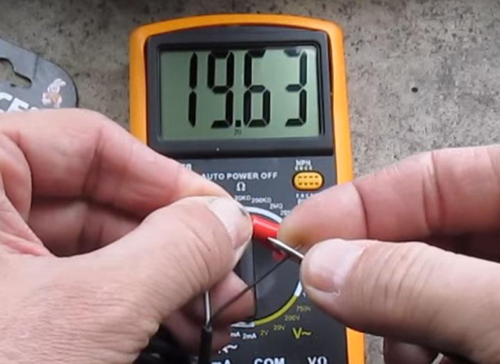 данные замера сопротивления изоляции температурного датчика теплого пола при температуре 20 градусов