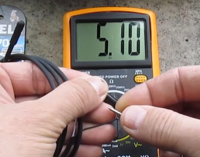 показания тестера при замере сопротивления неисправного датчика температуры