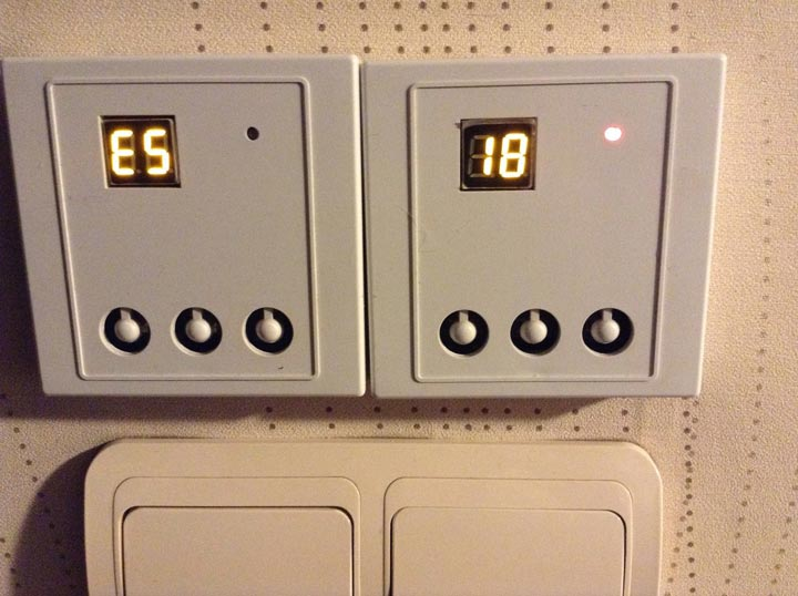 ошибка Е5 при неисправности терморегулятора или температурного датчика теплого пола
