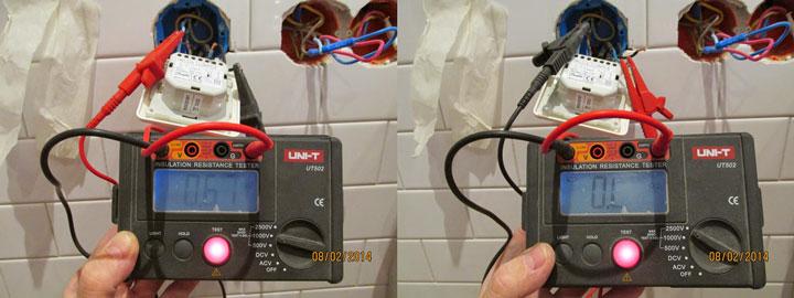 разница при испытании нагревательного мата мегаомметром 1000В и 2500В