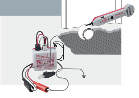 поиск места замыкания нагревательного кабеля и мата