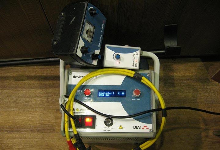 трансформатор для прожига и поиска места повреждения кабеля теплого пола