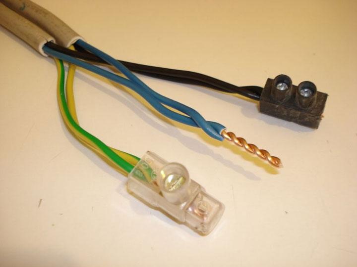 подключение проводов через ЗВИ