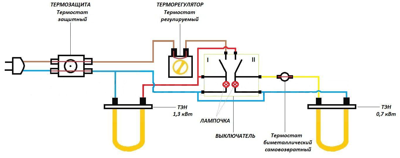 схема проводов бойлера