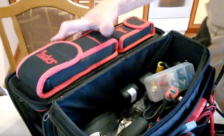 крепеж на липучке измерительного инструмента в сумке С-04
