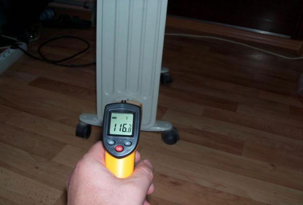 масляный обогреватель нагревается до 120 градусов