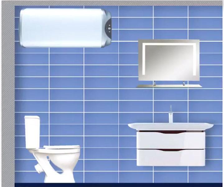 горизонтальное расположение бойлера в ванной