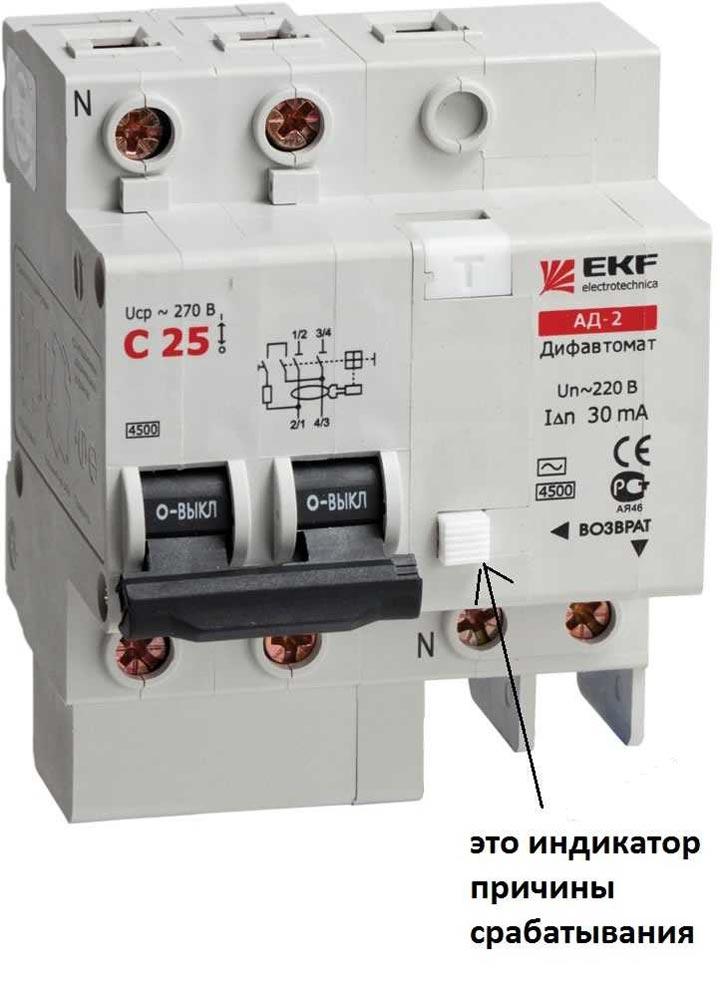 диффавтомат EKF с индикацией причины срабатывания