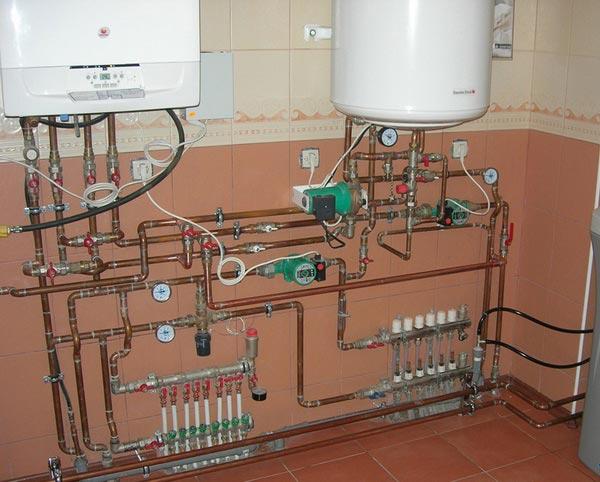 подключение врезка бойлера в систему отопления
