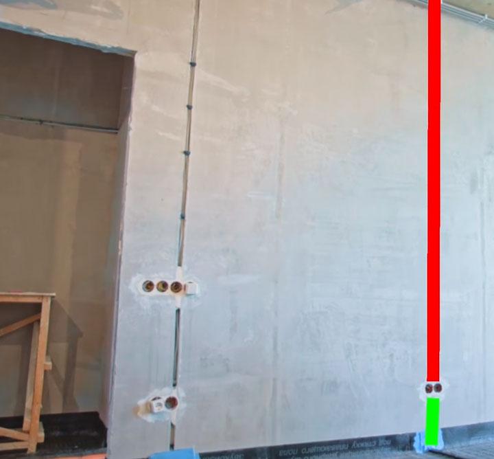 почему монтаж проводки по потолку дороже чем по полу