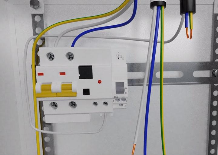 подключение кабеля на стабилизатор от вводного дифф.автомата