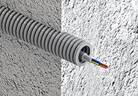 Монтаж кабеля в гофре — ошибки и заблуждения.