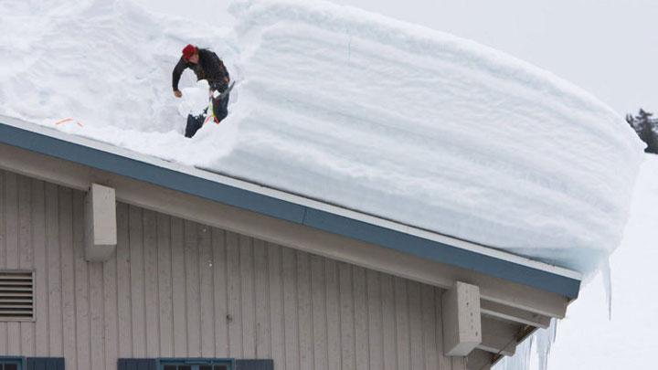 снег на крыше можно ли снимать термограммы тепловизором