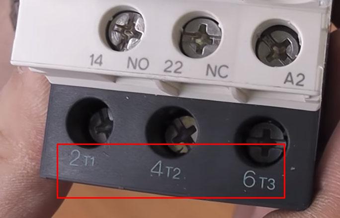 цифробуквенное обозначение рабочих контактов на пускателе