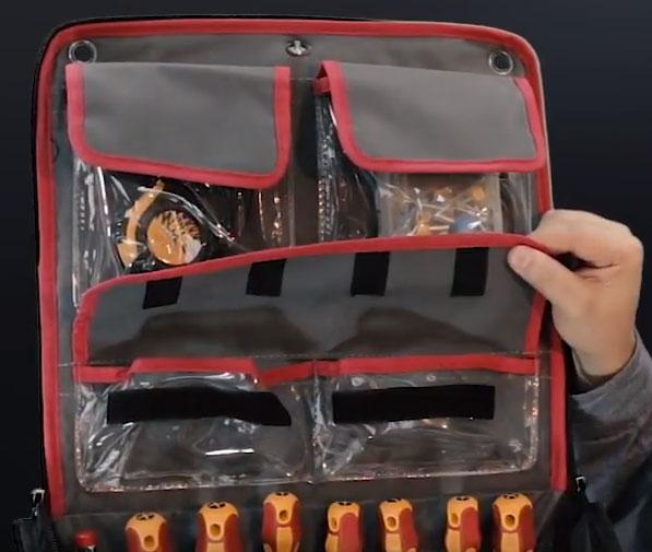 нижние карманы на клапане сумки квт С-09