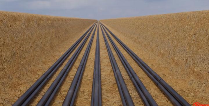 прокладка кабеля СПЭ в траншее