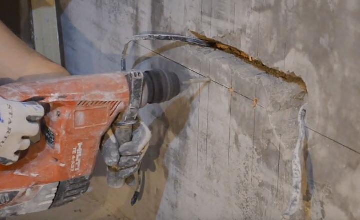 правила установки подрозетников в бетонную стену