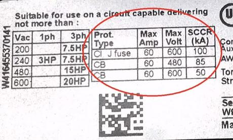 рекомендации по выбору предохранителей и выключателей для пускателя и контактора
