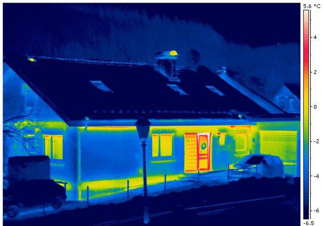 осмотр дома тепловизионными приборами