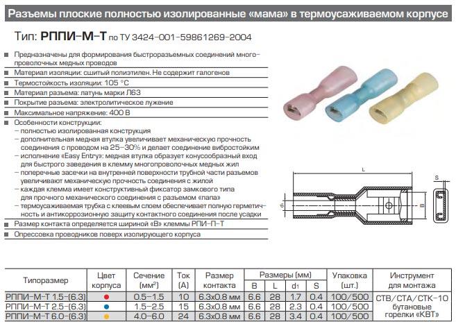 разъемы РППИ-М-Т технические характеристики и размеры