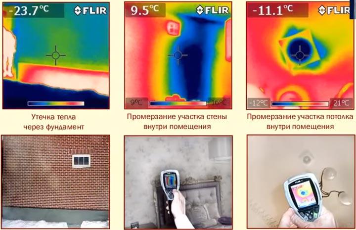 проблемы потери тепла в доме которые можно выявить тепловизором