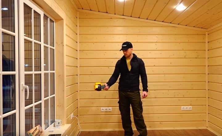 как правильно обследовать дом тепловизором изнутри помещения